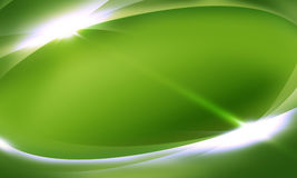 Abstract background green. Green smooth abstract background with shining light Stock Photos