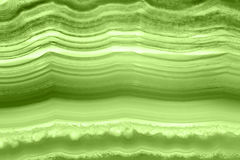 Abstract background - green agate slice mineral macro PANTONE greenery Royalty Free Stock Photo