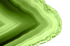 Abstract background - green agate slice mineral macro PANTONE greenery Stock Photos