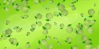Abstract background with green apples. Waves of juice symbolic. Abstract background with green apples. Waves of juice are symbolic. Screensaver for the site stock illustration