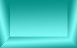 Abstract background of green or aquamarine color and grey gradient wall. Royalty Free Stock Images