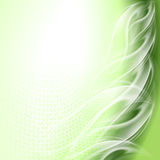 Abstract background green. Arc with white waves royalty free illustration