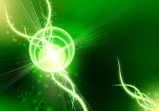 An abstract background is in green-black Royalty Free Stock Photography