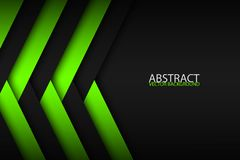 Abstract background with green and black layers above each other Stock Image