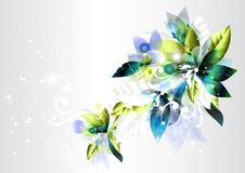 Abstract background with green and blue Stock Image