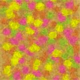 Abstract background of green and blue and pink and yellow flowers and leaves in low-poly style Stock Photography