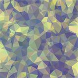 Abstract background of green and blue and pink and yellow flowers and leaves in low-poly style Stock Images