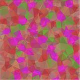 Abstract background of green and blue and pink and yellow flowers and leaves in low-poly style Royalty Free Stock Images