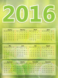 Abstract background green blurry lights, green bokeh abstract li. Ght 2016 year calendar royalty free illustration