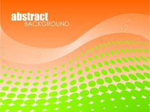 Abstract background with green circle stock illustration