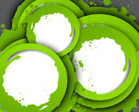 Abstract background with green circles. Bright illustration royalty free illustration