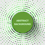 Abstract background with green circles halftone Stock Images