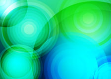 Abstract background with green circles. Vector abstract background with green and blue circles stock illustration