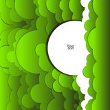 Abstract background of green clouds. Abstract vector background with green clouds Royalty Free Stock Photo