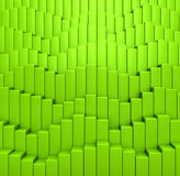 Abstract background from green colored cubes Stock Images
