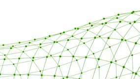 Abstract background. Green connecting dots on white background Stock Images