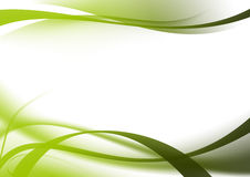 Abstract background green curves Royalty Free Stock Photography