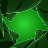 Abstract background. Green background, abstract design, green  swirl, banner Stock Image