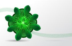 Abstract background. Green flower. Vector Royalty Free Stock Photos
