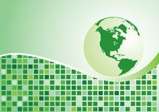 Abstract background. Green globe. Vector illustration royalty free illustration