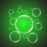 Abstract background with green glossy bubble. Stock vector Stock Photos