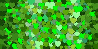 Abstract background with green hearts. Illustration, Various shades of green hearts background Stock Illustration