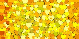 Abstract background with yellow hearts. Abstract background with green hearts - Illustration, Various shades of green hearts background Vector Illustration