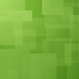 Abstract background with green layered rectangles Stock Images