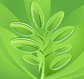 Abstract background. Green leaves. Abstract background with green leaves royalty free illustration