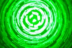 Abstract background of luminous circles in green and white colors. Abstract background of green light circles made with lightpainting technique vector illustration