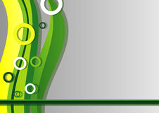 Abstract background with green lines. Abstract background with green wavy lines royalty free illustration