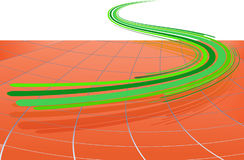 Abstract background with the green lines. Abstract background with the green bent lines. Vector illustration stock illustration