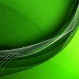 Abstract background with green lines. Vector Illustration Royalty Free Stock Image