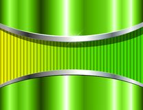 Abstract background green metallic. 3D vector design stock illustration
