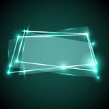 Abstract background with green neon banner. Stock vector Royalty Free Stock Image