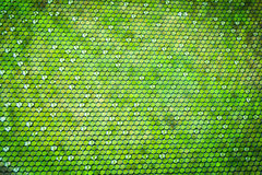 Abstract background with green octagon shape gradient Stock Photo