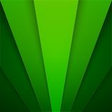 Abstract background with green paper layers Stock Photography