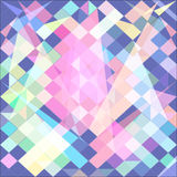 Abstract background with green polygons pink. Raster. Raster royalty free illustration
