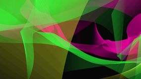 Abstract background in green,purple and yellow on black stock footage