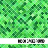 Abstract Background of Green Rombus. Abstract dark disco background of colorful lozenges Royalty Free Stock Photo