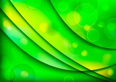 Abstract background with green shapes Stock Photography
