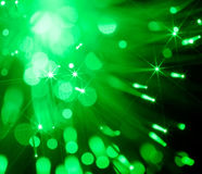 Abstract background of  green spot lights Royalty Free Stock Photography