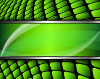 Abstract background green. Square mosaic and banner, 3D vector illustration Stock Photo