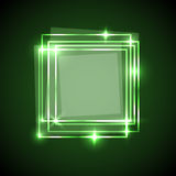 Abstract background with green squares banner Royalty Free Stock Photo