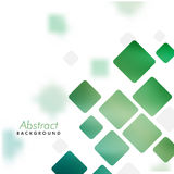 Abstract background with green squares. Abstract geometric background with shiny green squares royalty free illustration