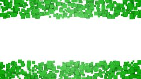 Abstract background with green squares. Graphic illustration with free space for design or text. 3D rendering. Digital illustration with free space in centre Stock Photography