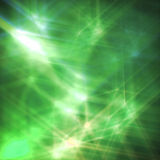 Abstract background with green stars Royalty Free Stock Photography