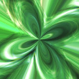 Abstract background with green streams of energy. Illustration Stock Image