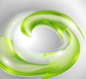 Abstract background with green swirl Stock Image