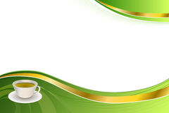 Abstract background green tea gold tape Stock Photo